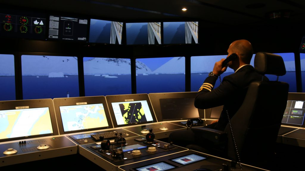 First officer sailing in polar waters